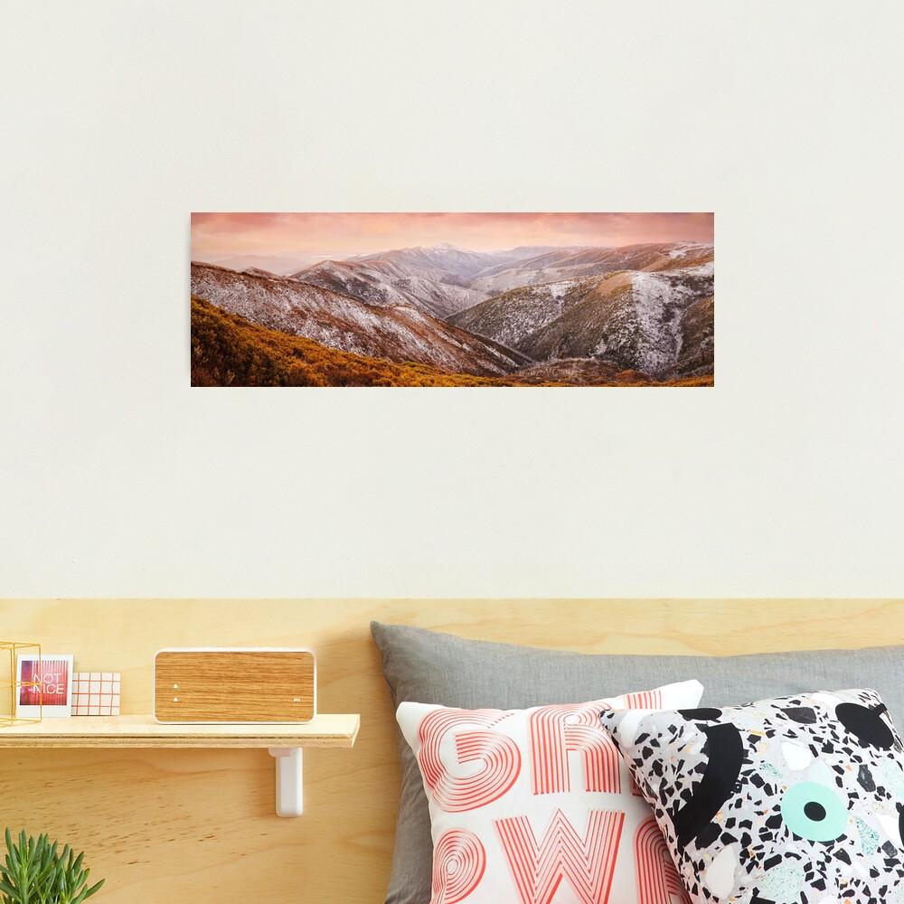 Mt Feathertop Sunset, Victoria, Australia Photographic Print