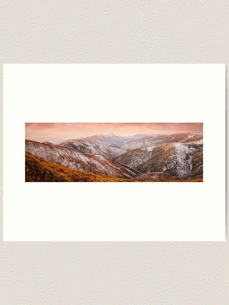 Alternate view of Mt Feathertop Sunset, Victoria, Australia Art Print