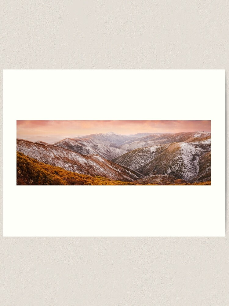 Alternate view of Mt Feathertop Sunset, Victoria, Australia Art Print