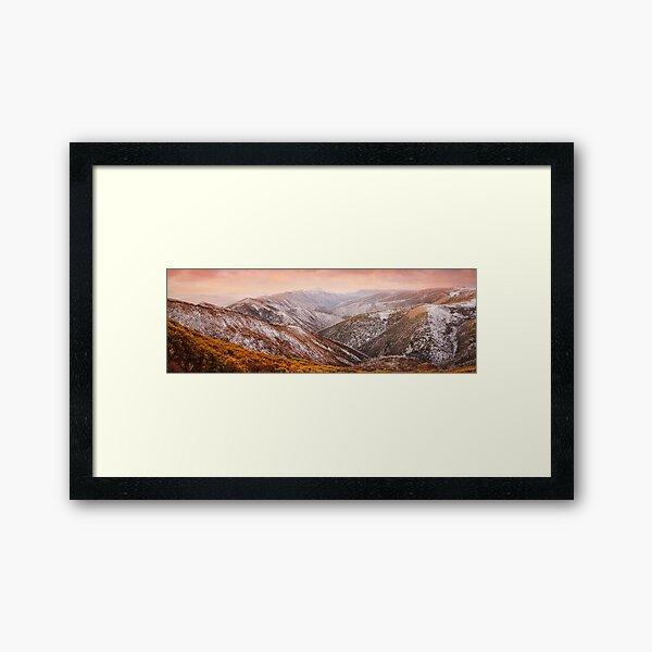 Mt Feathertop Sunset, Victoria, Australia Framed Art Print