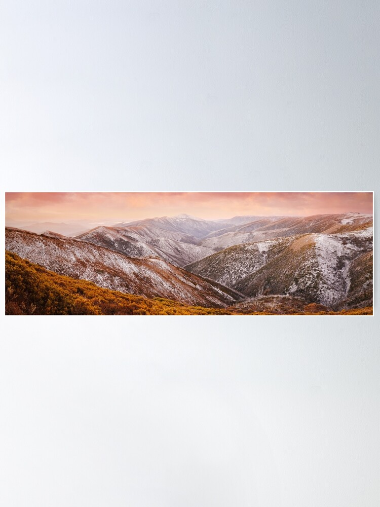 Alternate view of Mt Feathertop Sunset, Victoria, Australia Poster