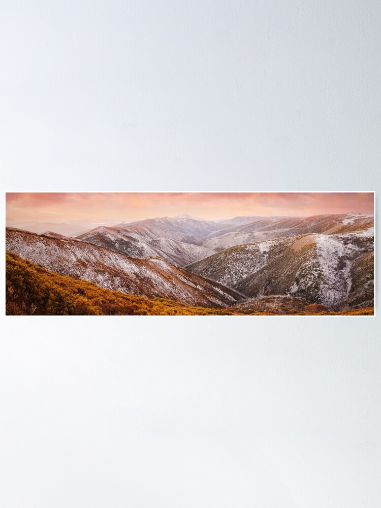 Alternate view of Mt Feathertop Sunset, Victoria, Australia Poster