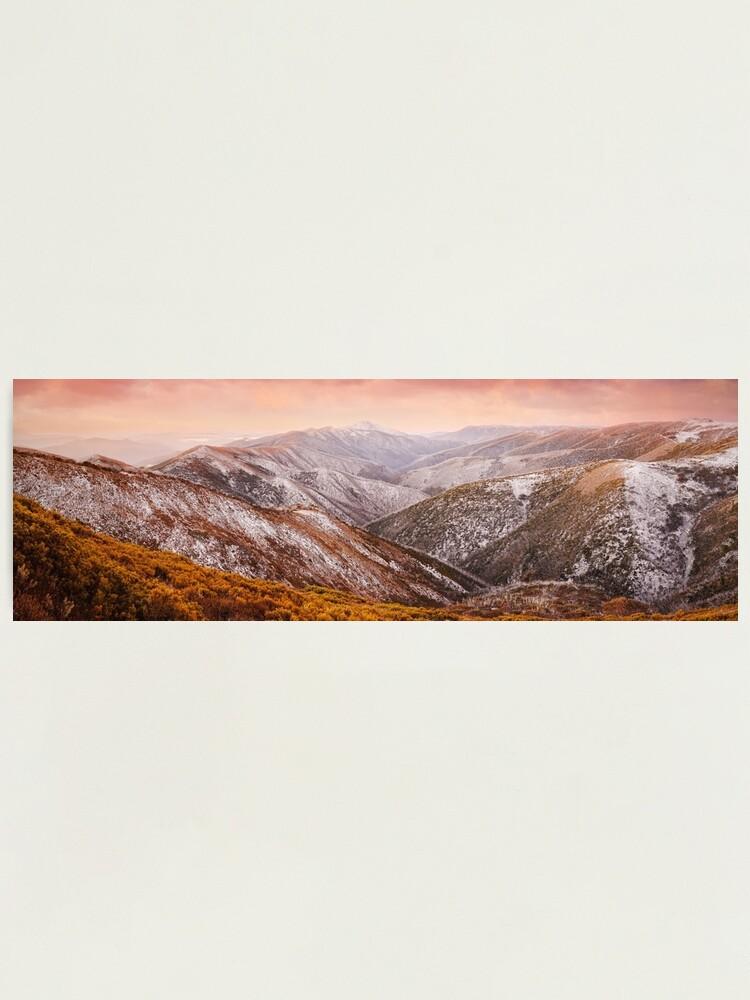 Alternate view of Mt Feathertop Sunset, Victoria, Australia Photographic Print