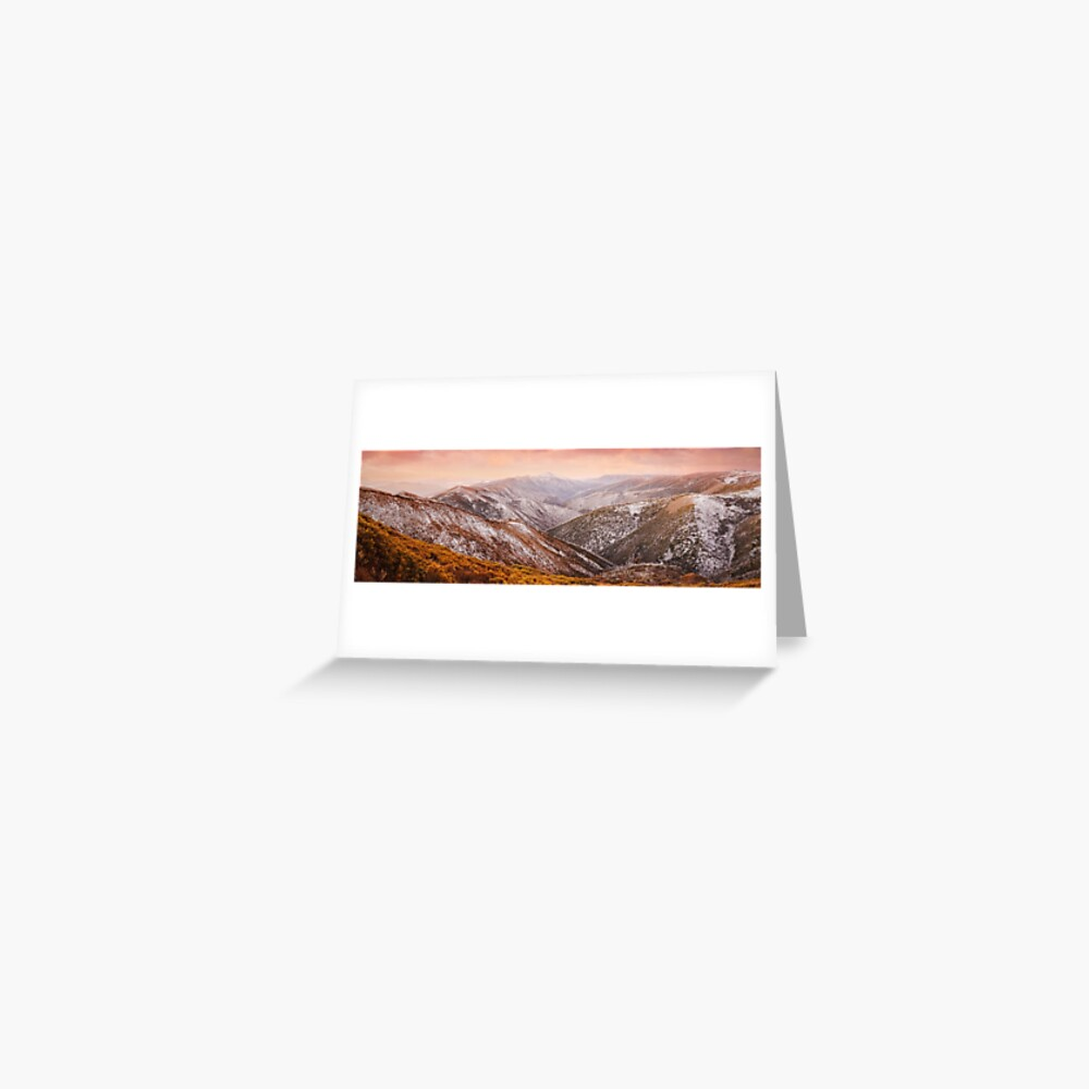 Mt Feathertop Sunset, Victoria, Australia Greeting Card