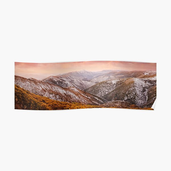 Mt Feathertop Sunset, Victoria, Australia Poster