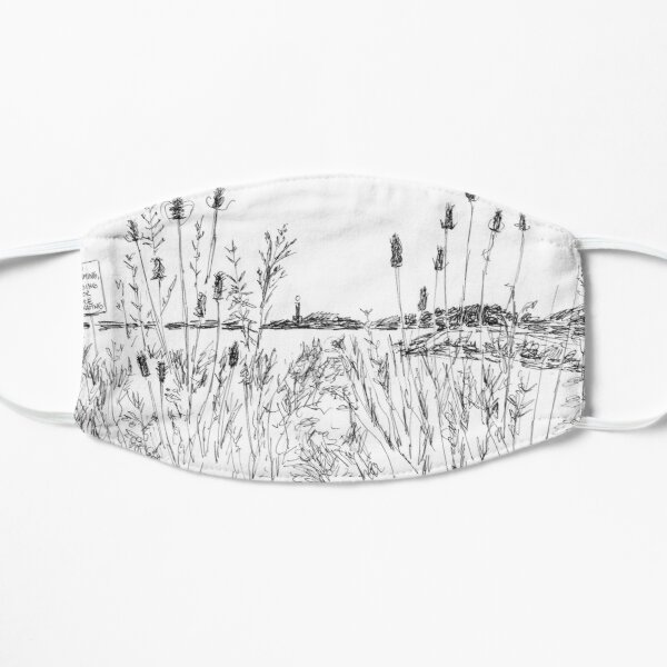 Wildflowers at the Beach, Wilkeson Pointe Flat Mask