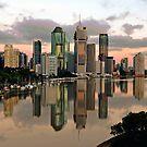 Brisbane City Before Sunrise. Queensland, Australia. by Ralph de Zilva