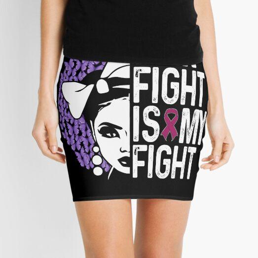 Her Fight Is My Fight Conciencia De La Cinta Verde Azulado Mujeres Lindo Minifalda