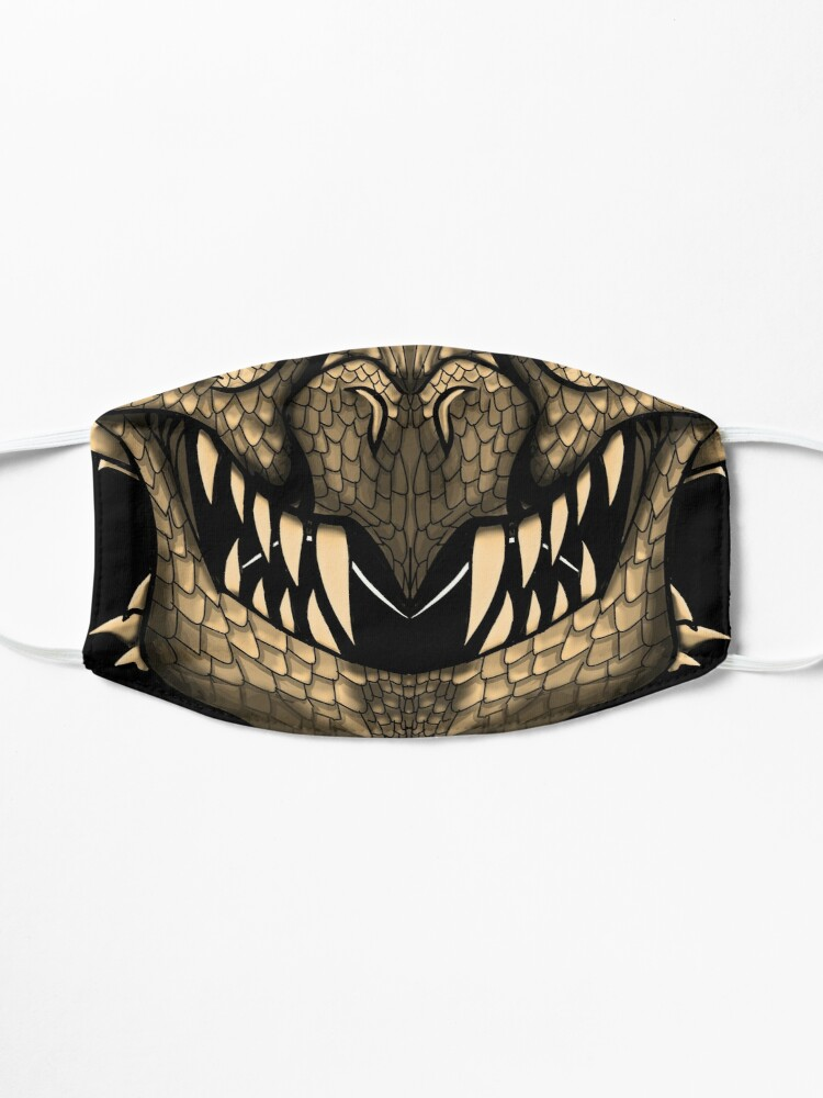 Alternate view of Gold Dragon Spirit Mask Mask