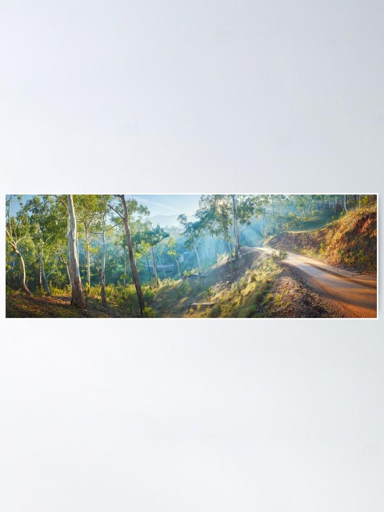 Alternate view of Morning Light, Howqua Hills, Mansfield, Victoria, Australia Poster