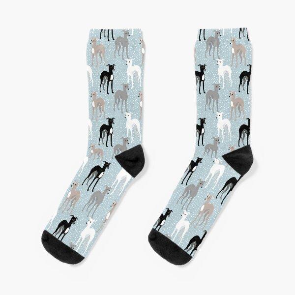 Italian Greyhounds Mid-Century Modern Pattern Socks