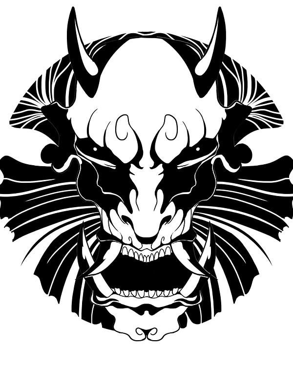 """Oni mask "" Stickers by Solkius 