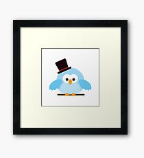 Cute Owl with Hat Framed Print