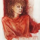 Self Portrait in Gouache by Roz McQuillan