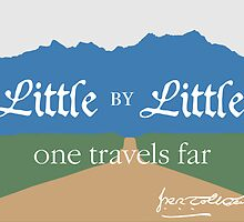 Image result for little by little one travels far