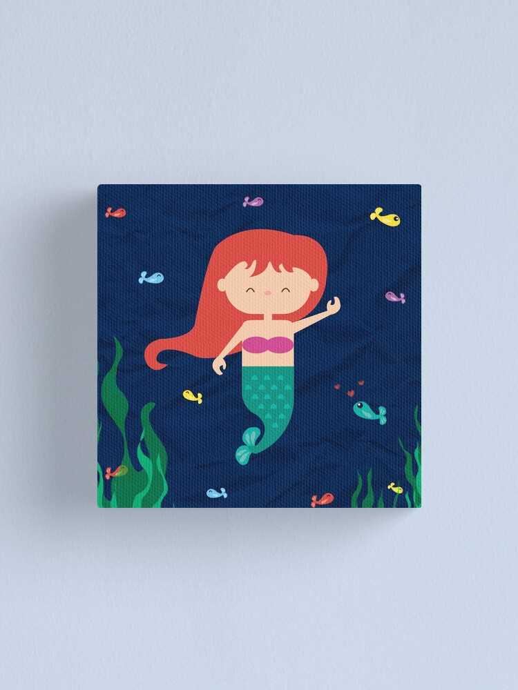 Alternate view of Mermaid Canvas Print