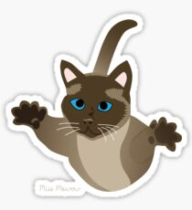 A cat can jump 5 times his own height. Sticker
