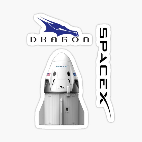 space pack - spacex dragon Sticker