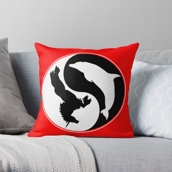 The Empire of Dorkness Ying Yang Throw Pillow