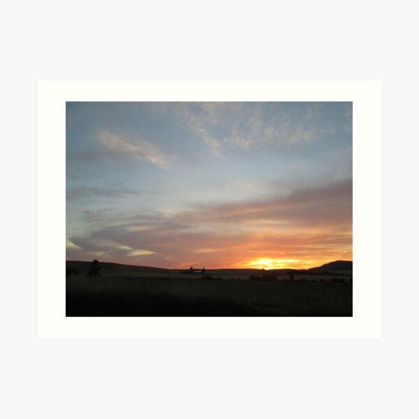 Sunset on the Palouse I - near Potlatch Idaho I Art Print