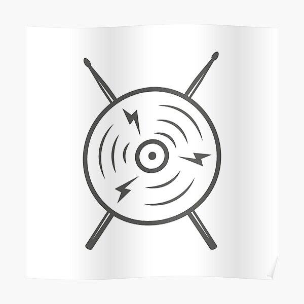 Drummer drumsticks Poster