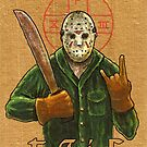 Religious Horror Icon-Jason Voorhees-T.G.I.F.-Friday the 13th by ARTmuffin