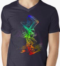 Psychedelic Mad Hatter Trippy Alice Men's V-Neck T-Shirt