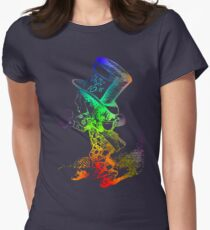 Psychedelic Mad Hatter Trippy Alice Women's Fitted T-Shirt