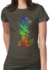 Psychedelic Mad Hatter Trippy Alice Womens Fitted T-Shirt