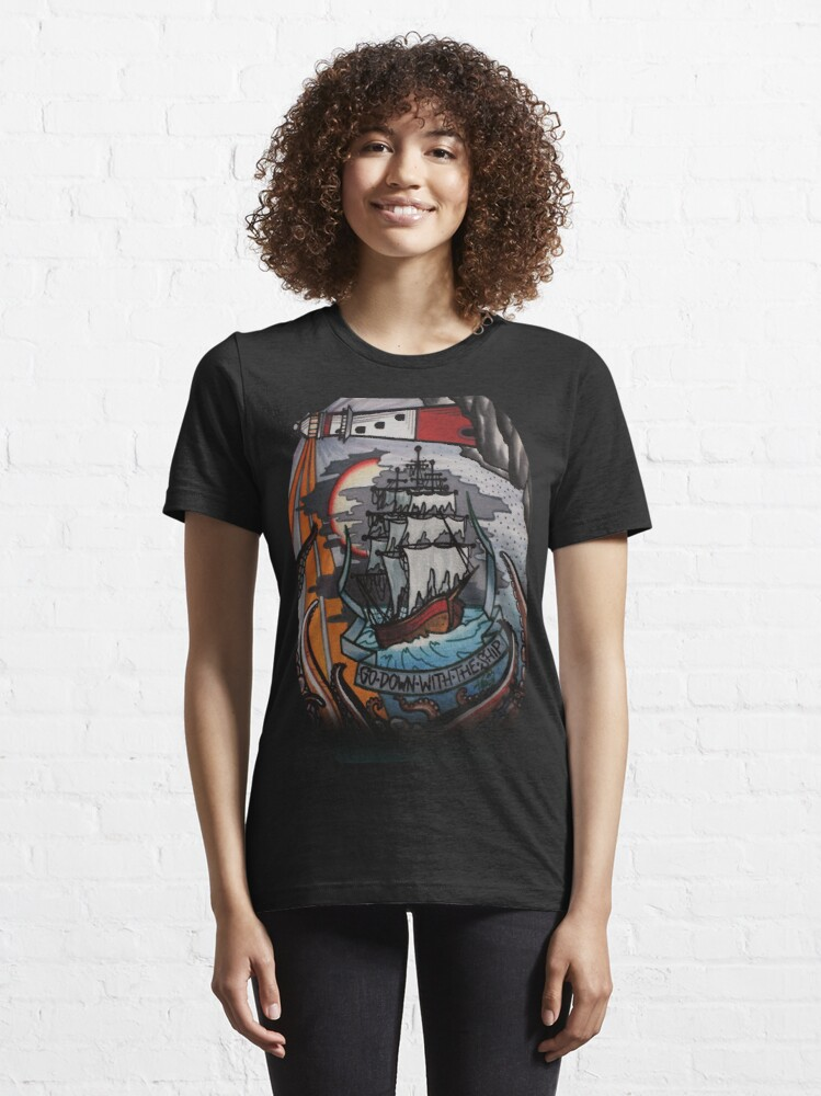 Alternate view of go down with the ship Essential T-Shirt