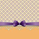 Purple Bow Orange Lotus Yellow Flourish Diamond Pattern by Beverly Claire Kaiya