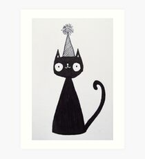 Celebration Cat  Art Print