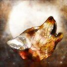 abstract howling wolf by Ancello