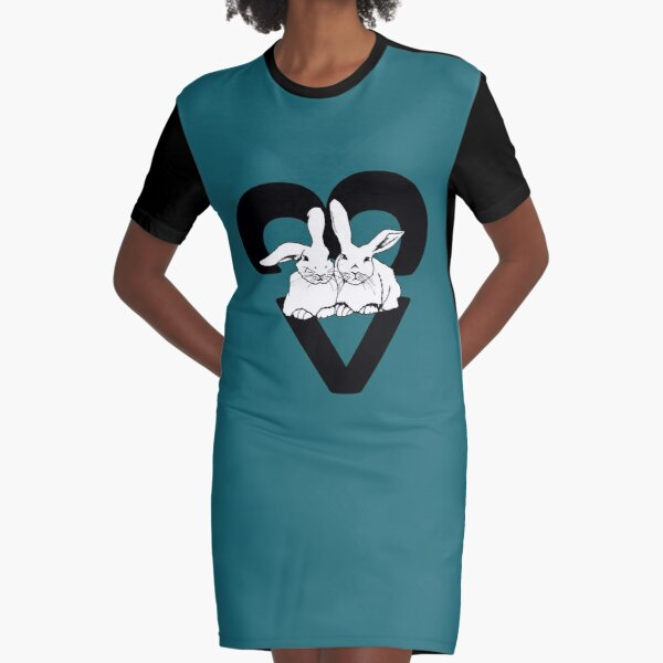 Snuggle Bunns - turquoise Graphic T-Shirt Dress