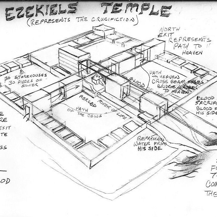 u0026quot ezekiel u0026 39 s temple diagram u0026quot  by helium73