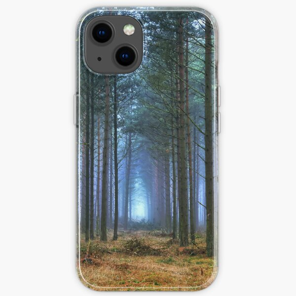 Pine Forest in Morning Fog. iPhone Soft Case