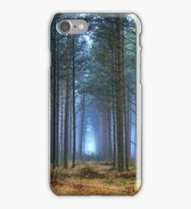 Pine Forest in Morning Fog. iPhone Case/Skin