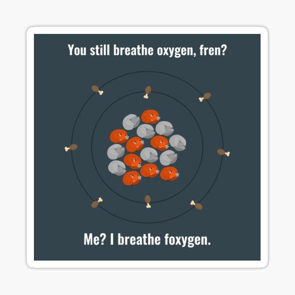 I Breathe Foxygen Sticker