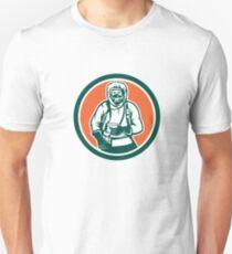 Hazchem Worker Circle Retro T-Shirt