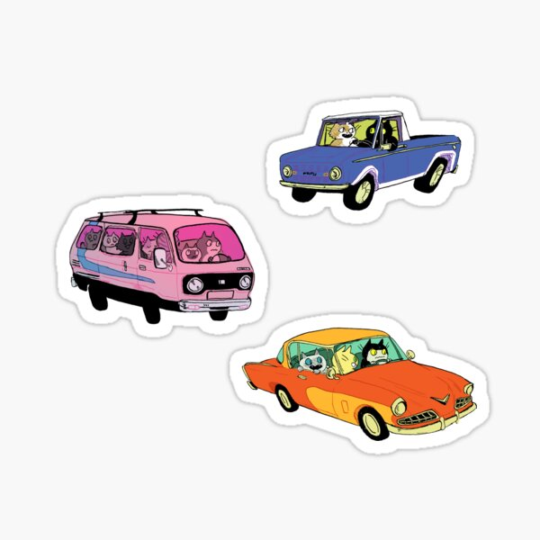 Cats in Cars sticker pack Sticker