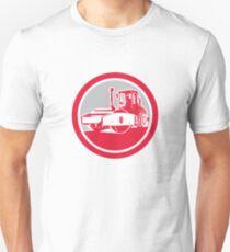 Road Compactor Circle Retro  Unisex T-Shirt