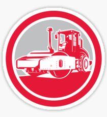 Road Compactor Circle Retro  Sticker