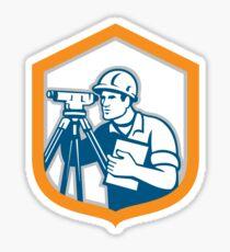 Surveyor Geodetic Engineer Survey Theodolite Shield Retro Sticker
