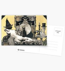 Skyclad Witch with Familiars Postcards
