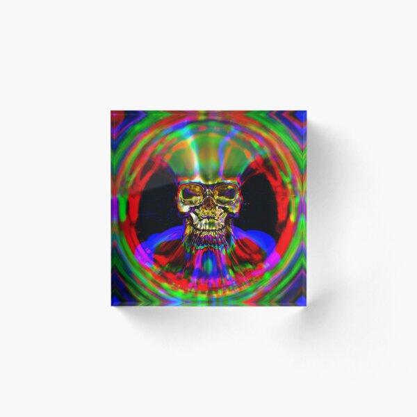 The Gilded Skull by FeralRays Acrylic Block