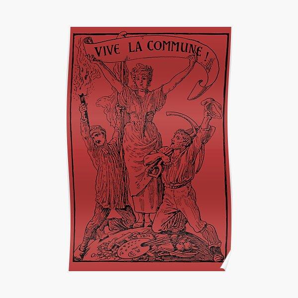 Vive La Commune Walter Crane - Historical, Paris Commune, Socialist, Leftist  Poster