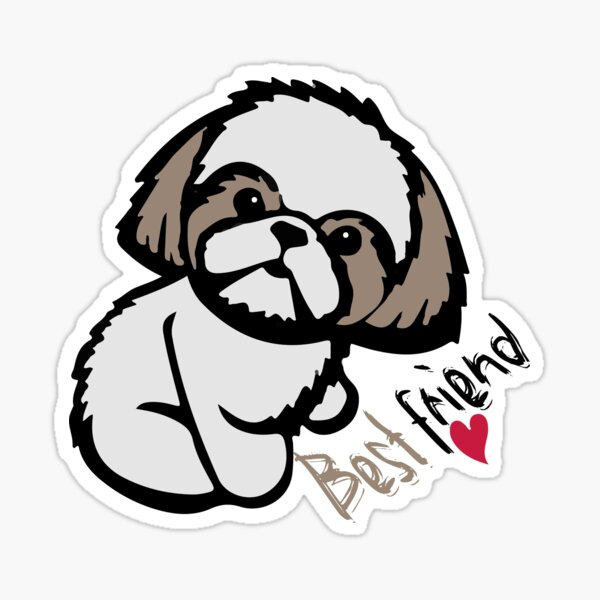 funny dog Shih Tzu : Gift for mom & dad ,Cute family gift for Siblings, best friend Sticker