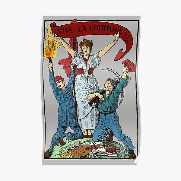 Vive La Commune Walter Crane Recolored - Historical, Paris Commune, Socialist, Leftist Poster