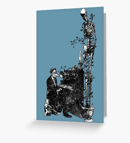 Plague Pianist Greeting Card