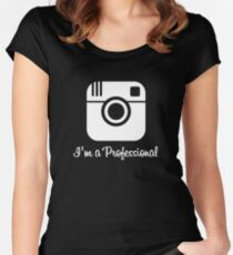 Professional Photographer Dark Women's Fitted Scoop T-Shirt